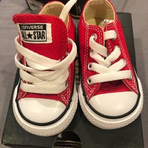 Red infant converse